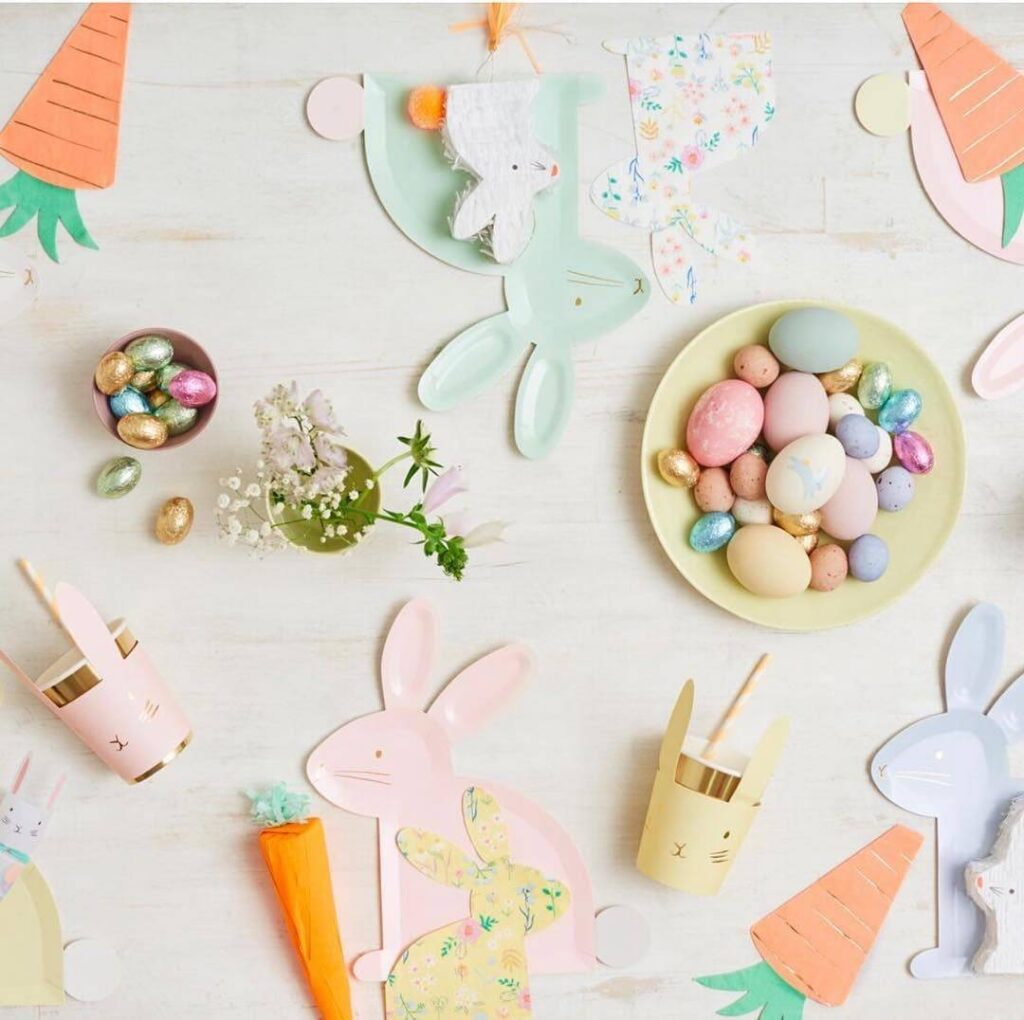 1632395286 723 Sweet origami Easter bunny Simple instructions for folding it yourself - Make cute Easter table decorations> Easy Easter egg & Easter bunny DIY