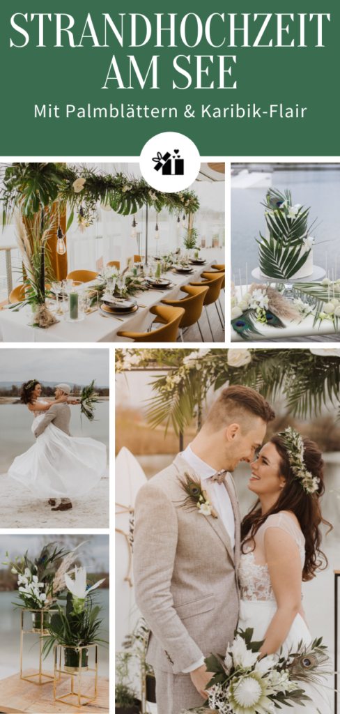 1632411108 436 Beach wedding at the lake with palm leaves and Caribbean - Beach wedding at the lake: with palm leaves and Caribbean flair