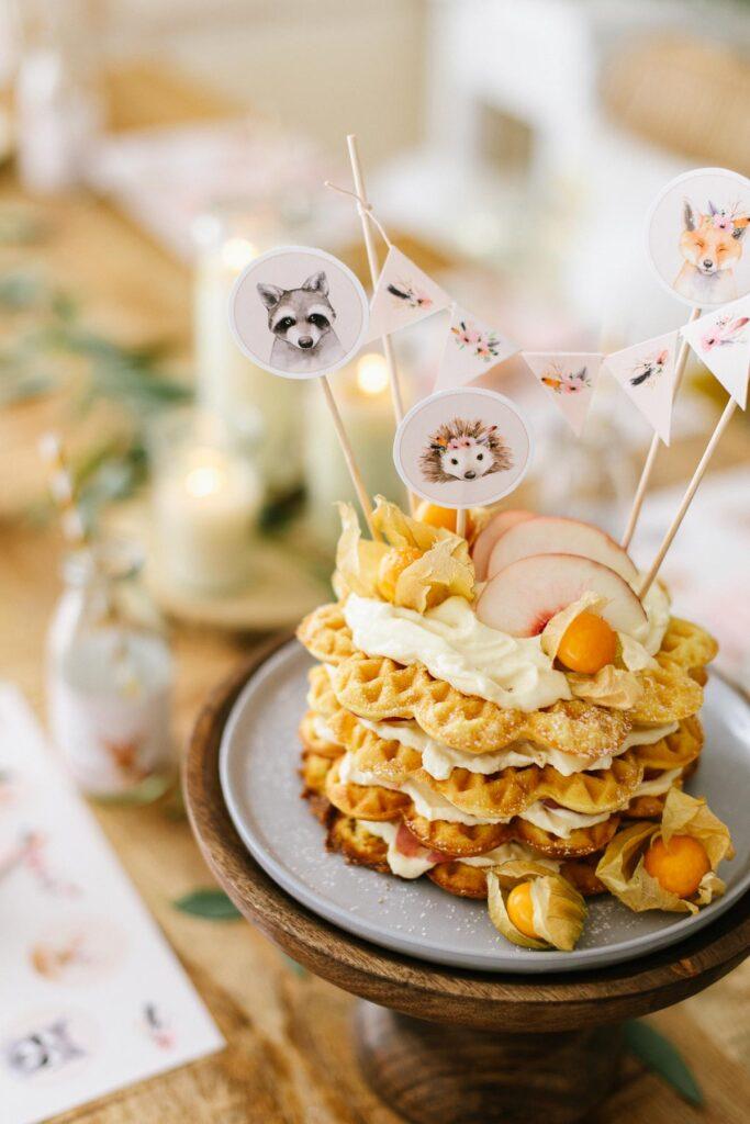1632467542 745 Waffle cake with peach mascarpone cream Miss K says - Waffle cake with peach mascarpone cream - Miss K. says yes