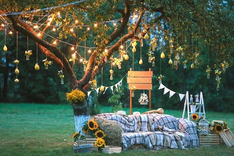 Seating for a garden wedding stylish and comfortable - Seating for a garden wedding: stylish and comfortable