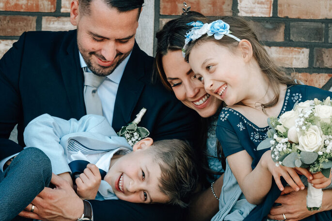 The most beautiful wedding photos with children - The most beautiful wedding photos with children